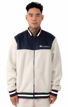 Sherpa Baseball Jacket - Quartz Cream/Navy