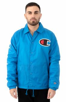 Sherpa Lined Coaches Jacket - Deep Hotline Blue