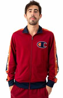 Tricot Track Jacket w/ Champion Taping - Cherry Pie
