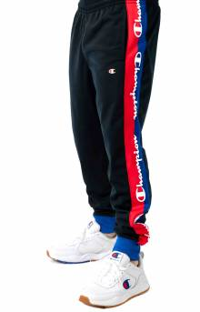 Tricot Track Pant w/ Champion Taping - Black/Surf the Web