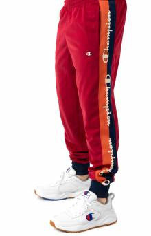 Tricot Track Pant w/ Champion Taping - Cherry Pie