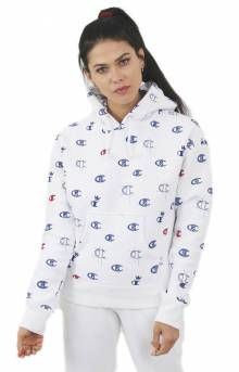 Reverse Weave C's AO Pullover Hoodie - White