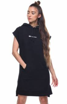 Reverse Weave Dress - Black