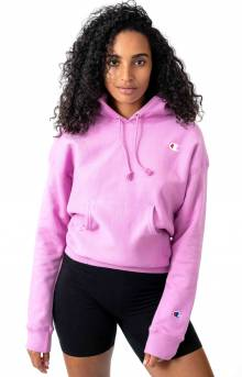 Reverse Weave Pullover Hoodie - Paper Orchid