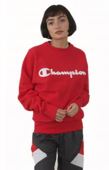RW Chainstitch Script Crewneck - Team Red Scarlet