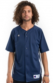 Prospect S/S Full Button Jersey - Navy