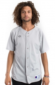 Prospect S/S Full Button Jersey - Steel Grey