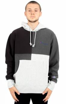 Reverse Weave Color Block Pullover Hoodie - Oxford Grey/Granite Heather/Black