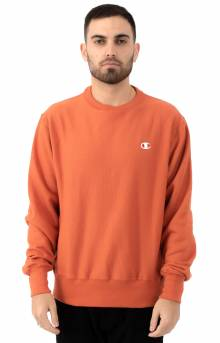Reverse Weave Crewneck - Burnt Orange