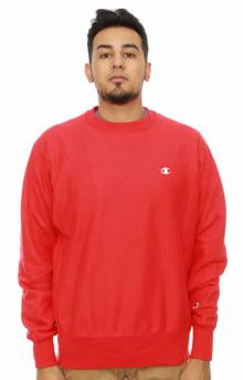 Reverse Weave Crewneck - Team Red Scarlet