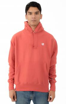 Reverse Weave Pullover Hoodie - Picante Pink