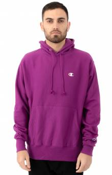 Reverse Weave Pullover Hoodie - Spray Berry Purple