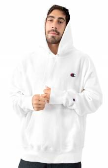 Reverse Weave Pullover Hoodie - White
