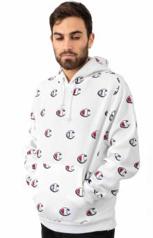 RW AO Scribble Logo Pullover Hoodie - White