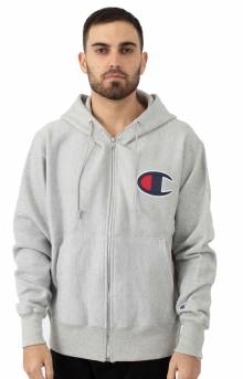 RW Full Zip Chainstitch C Logo Hoodie - Oxford Grey
