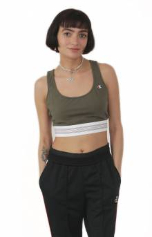 Crop Top - Camo Green