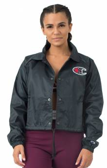 Cropped Sublimated C Logo Coaches Jacket - Black