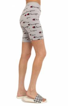 Everyday All Over Multi Scale Script Bike Short - Oxford Grey
