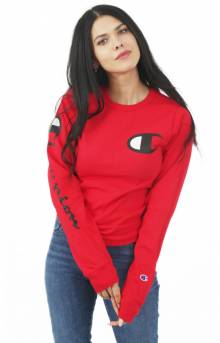 Heritage Graphic Sleeve L/S Shirt - Team Red Scarlet