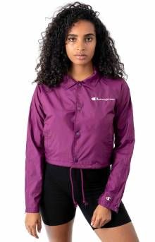 Oversized C Cropped Coaches Jacket - Venetian Purple