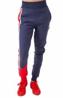 Reverse Weave Colorblock Jogger - Imperial Indigo/Red Spark