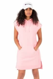 Reverse Weave Dress With Hood - Pink Bow