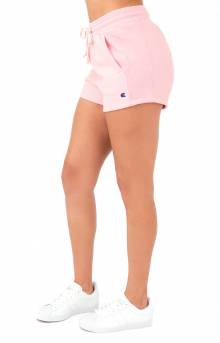 Reverse Weave Shorts - Pink Bow