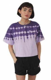 Streak Dye Cropped T-Shirt - Pale Violet Rose