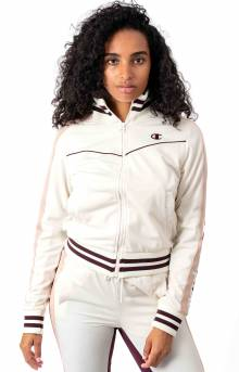 Tricot Track Jacket w/ Champion Taping - Chalk White