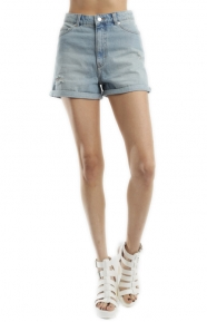 Cheap Monday Womens Clothing, Donna Shorts - Light Blue