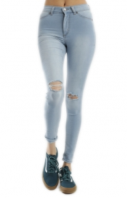 Cheap Monday Womens Clothing, High Spray Jeans - Light Blue