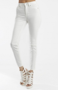 Cheap Monday Womens Clothing, High Spray Jeans - White