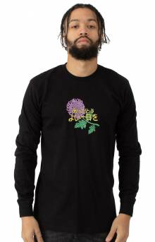 Japanese Flower L/S Shirt - Black