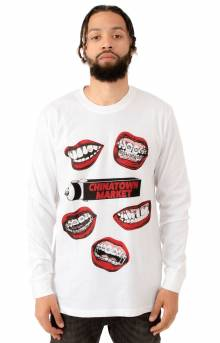 Mouth L/S Shirt - White
