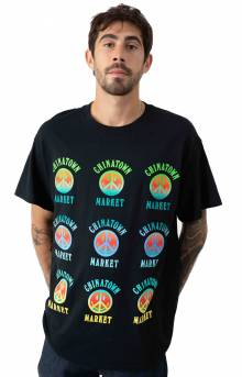 Smiley Gradient T-Shirt - Black