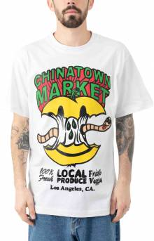 Smiley Local Produce Apple T-Shirt - White