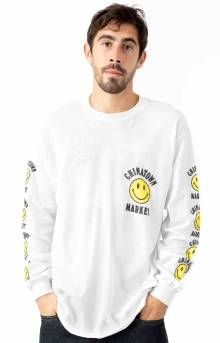 Smiley Logo L/S Shirt - White