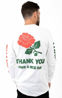 Thank You L/S Shirt - White