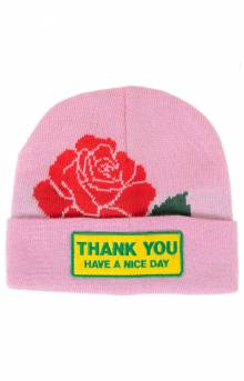Thanks You Rose Beanie - Pink