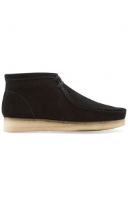 Clarks Clothing, (26103669) Wallabee Boot - Black Suede