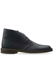 Clarks Clothing, (26103683) Desert Boot - Black Smooth Leather
