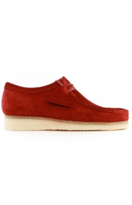 (26128365) Wallabee Boot - Red Suede