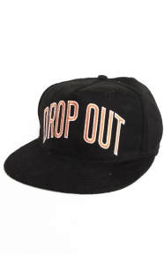 College Strap-Back Hat - Black