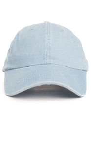 Pigment Dyed Washed Dad Hat - Light Blue