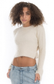 Cotton Candy Clothing, Kimmie Sweater - Ivory