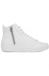 Carda Hi Shoe - White Leather