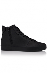 Carda Hi Shoe - Black Leather