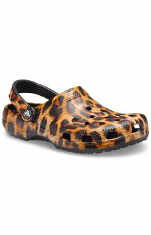 Classic Animal Print Clogs - Leopard