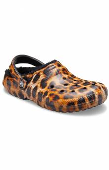 Classic Lined Animal Print Clogs - Black/Leopard