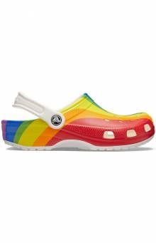 Classic Rainbow Stripe Clogs - Rainbow